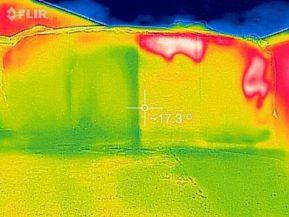 Wärmebild einer nacherwärmten Silage