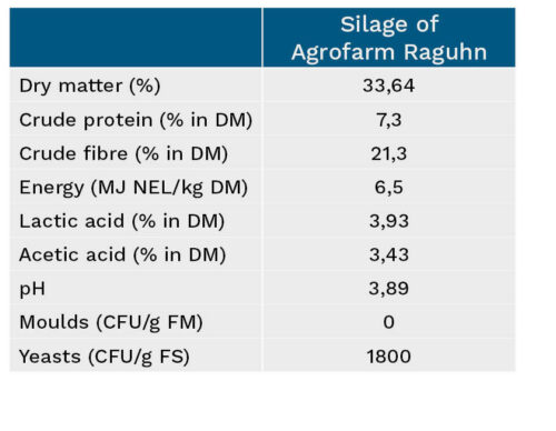 Overview of silage characteristics, Agrofarm Raguhn